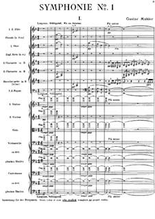 Sinfonie Nr.1 in D-Dur 'Der Titan': Partitur by Gustav Mahler