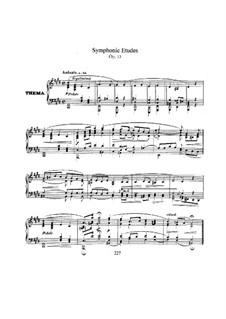 Sinfonische Etüden, Op.13: Vollsammlung by Robert Schumann