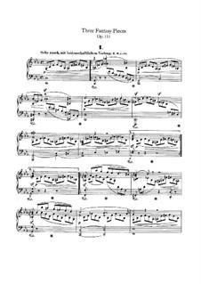 Drei Fantasiestücke, Op.111: Für einen Interpreten by Robert Schumann