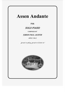 All of The Callum Collection, Op.7: No.3 Assen Andante. Solo piano (medium) by Simon Paul Austin