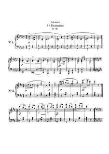 Elf Ecossaisen für Klavier, D.781: Für einen Interpreten by Franz Schubert