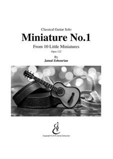 10 Little Miniatures, Op.122: Miniature No.1 by Jamal Zohourian