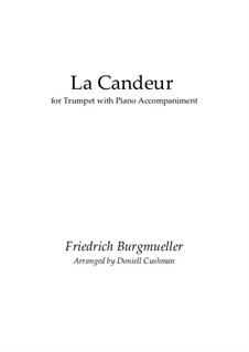 No.1 La Candeur: For trumpet and piano by Johann Friedrich Burgmüller