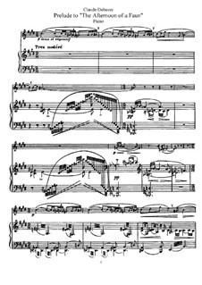 Prélude à l'après-midi d'un faune (Vorspiel zum Nachmittag eines Faunes), L.86: Bearbeitung für Flöte and Klavier by Claude Debussy