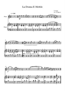 10 Easy Classical Pieces For Flute & Piano Vol.3: La Donna E Mobile by Edward MacDowell, Johann Strauss (Sohn), Johannes Brahms, Georg Friedrich Händel, Felix Mendelssohn-Bartholdy, Robert Schumann, Muzio Clementi, Giuseppe Verdi, Anton Rubinstein, Johan Halvorsen