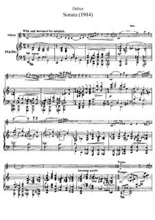 Sonate für Violine und Klavier: Partitur by Frederick Delius