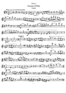 Sonate für Violine und Klavier: Solostimme by Frederick Delius
