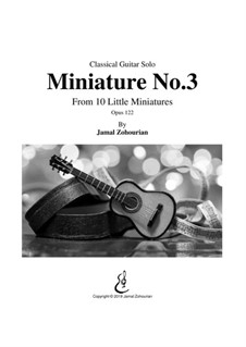 10 Little Miniatures, Op.122: Miniature No.3 by Jamal Zohourian
