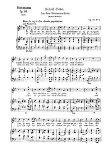 Sechs Gedichte, Op.36: Nr.4 An den Sonnenschein (B-Dur) by Robert Schumann