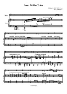 Zum Geburtstag viel Glück: Für Violine und Klavier by Mildred Hill