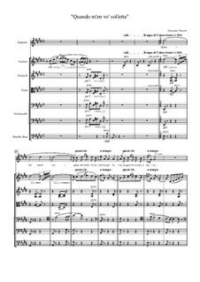 Quando men vo (Musetta's Waltz): For soprano and strings orchestra by Giacomo Puccini