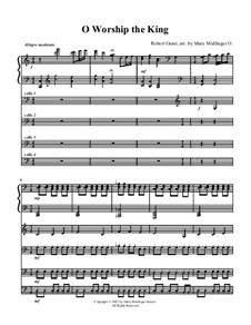 O Worship The King: For trio cellos and piano by Michael Haydn