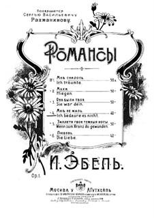 Romanzen, Op.1: Nr.4 Ich bedaure es Nicht by Heinrich Karl Ebell