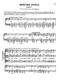 Fragmente: Akt III, für Solisten, Chor und Klavier by Modest Mussorgski