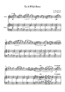 10 Easy Classical Pieces For Flute & Piano Vol.3: To A Wild Rose by Edward MacDowell, Johann Strauss (Sohn), Johannes Brahms, Georg Friedrich Händel, Felix Mendelssohn-Bartholdy, Robert Schumann, Muzio Clementi, Giuseppe Verdi, Anton Rubinstein, Johan Halvorsen