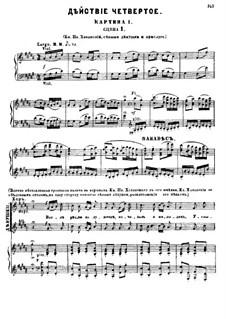 Fragmente: Akt IV, für Soloists, Choir und Klavier by Modest Mussorgski