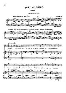 Fragmente: Akt V, für Solisten, Chor und Klavier by Modest Mussorgski