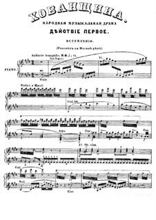Fragmente: Akt I, für Solisten, Chor und Klavier by Modest Mussorgski
