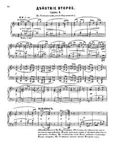 Fragmente: Akt II, für Solisten, Chor und Klavier by Modest Mussorgski