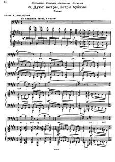 Es stürmen die Winde: Russischer Text by Modest Mussorgski