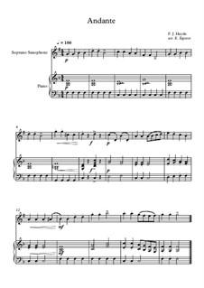 10 Easy Classical Pieces For Soprano Saxophone & Piano Vol.4: Andante (Surprise Symphony) by Johann Sebastian Bach, Tomaso Albinoni, Joseph Haydn, Wolfgang Amadeus Mozart, Franz Schubert, Jacques Offenbach, Richard Wagner, Giacomo Puccini, folklore