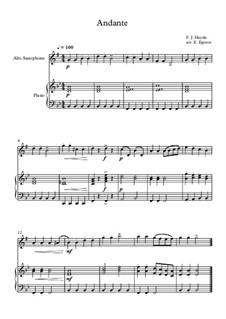 10 Easy Classical Pieces For Alto Saxophone & Piano Vol.4: Andante (Surprise Symphony) by Johann Sebastian Bach, Tomaso Albinoni, Joseph Haydn, Wolfgang Amadeus Mozart, Franz Schubert, Jacques Offenbach, Richard Wagner, Giacomo Puccini, folklore