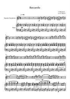 10 Easy Classical Pieces For Soprano Saxophone & Piano Vol.4: Barkarole by Johann Sebastian Bach, Tomaso Albinoni, Joseph Haydn, Wolfgang Amadeus Mozart, Franz Schubert, Jacques Offenbach, Richard Wagner, Giacomo Puccini, folklore