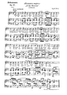 Zwölf Gedichte für Stimme und Klavier, Op.37: Nr.3 O, ihr Herren by Robert Schumann