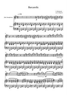 10 Easy Classical Pieces For Alto Saxophone & Piano Vol.4: Barkarole by Johann Sebastian Bach, Tomaso Albinoni, Joseph Haydn, Wolfgang Amadeus Mozart, Franz Schubert, Jacques Offenbach, Richard Wagner, Giacomo Puccini, folklore