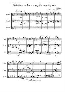 Blow away the morning dew: Variations, for viola trio by folklore