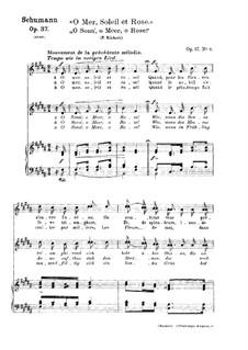 Zwölf Gedichte für Stimme und Klavier, Op.37: Nr.10 O Sonn', o Meer, o Rose by Robert Schumann