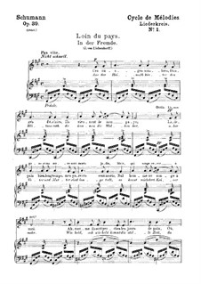 Vollständiger Satz: Klavierauszug mit Singstimmen (Deutsch, Französisch) by Robert Schumann