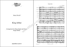 König Arthur oder Britanniens Würde, Z.628: Selected Themes, for wind ensemble by Henry Purcell