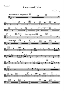 Vollständiger Ouvertüre: Trombone I part by Pjotr Tschaikowski