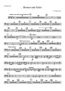 Vollständiger Ouvertüre: Trombone III part by Pjotr Tschaikowski