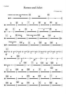 Vollständiger Ouvertüre: Cymbals part by Pjotr Tschaikowski
