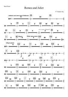 Vollständiger Ouvertüre: Bass drum part by Pjotr Tschaikowski