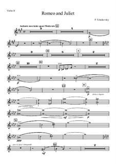 Vollständiger Ouvertüre: Violinstimme II by Pjotr Tschaikowski