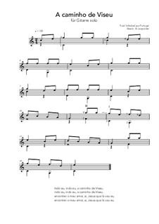 A caminho de Viseu: For guitar solo (C Major) by folklore