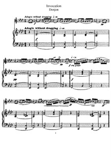 Invocation for Flute and Piano: Vollpartitur by Johannes Donjon
