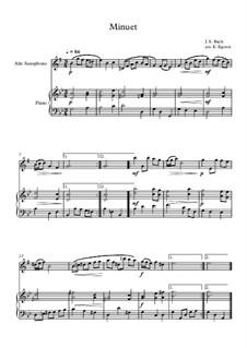 10 Easy Classical Pieces For Alto Saxophone & Piano Vol.4: Minuet (In D Minor) by Johann Sebastian Bach, Tomaso Albinoni, Joseph Haydn, Wolfgang Amadeus Mozart, Franz Schubert, Jacques Offenbach, Richard Wagner, Giacomo Puccini, folklore