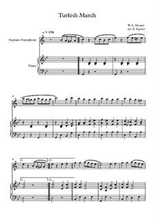 10 Easy Classical Pieces For Soprano Saxophone & Piano Vol.4: Turkish March by Johann Sebastian Bach, Tomaso Albinoni, Joseph Haydn, Wolfgang Amadeus Mozart, Franz Schubert, Jacques Offenbach, Richard Wagner, Giacomo Puccini, folklore