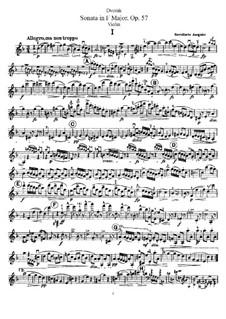 Sonate für Violine und Klavier in F-Dur, B.106 Op.57: Solostimme by Antonín Dvořák