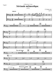 Melancholische Serenade, TH 56 Op.26: Fagottstimme by Pjotr Tschaikowski