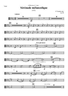 Melancholische Serenade, TH 56 Op.26: Violastimme by Pjotr Tschaikowski