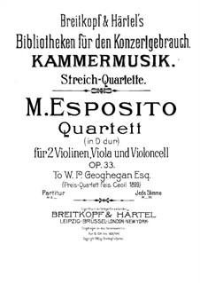 Streichquartett in D-Dur, Op.33: Violinstimme II by Michele Esposito