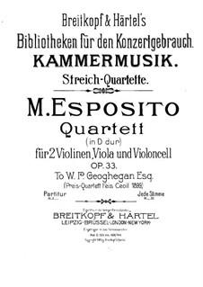 Streichquartett in D-Dur, Op.33: Violinstimme I by Michele Esposito
