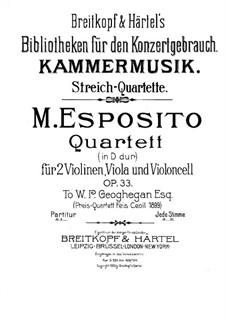Streichquartett in D-Dur, Op.33: Violastimme by Michele Esposito