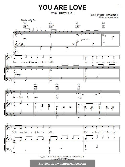 You are Love (Frank Sinatra): Für Stimme und Klavier (oder Gitarre) by Jerome Kern