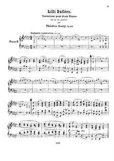 Lilli Bulléro. Variationen für zwei Klaviere, vierhändig, Op.62: Klavierstimme II by Louis Théodore Gouvy